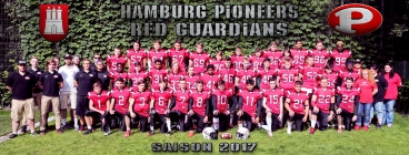 Hamburg Pioneers Red Guardians Team 2017 Titelbild 1 - Foto: H Beck